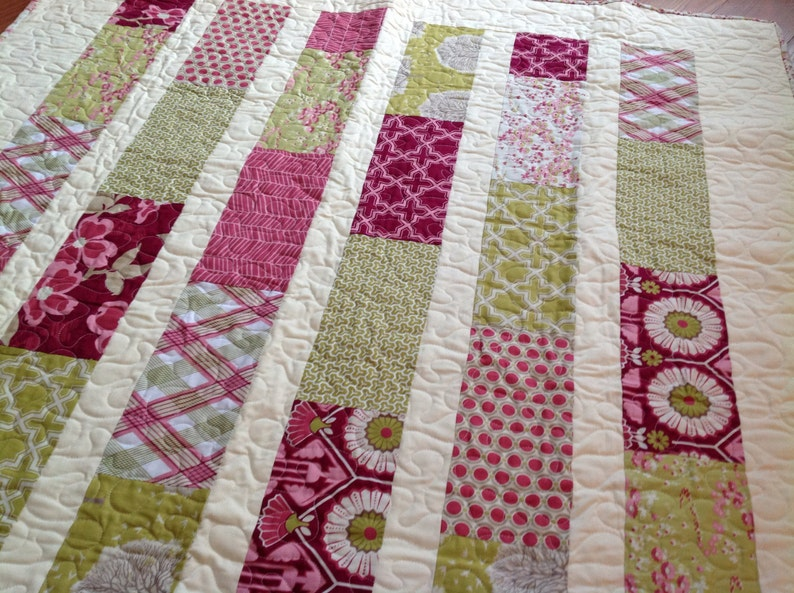 Modern Meadow Lap or Baby Quilt- pattern also available