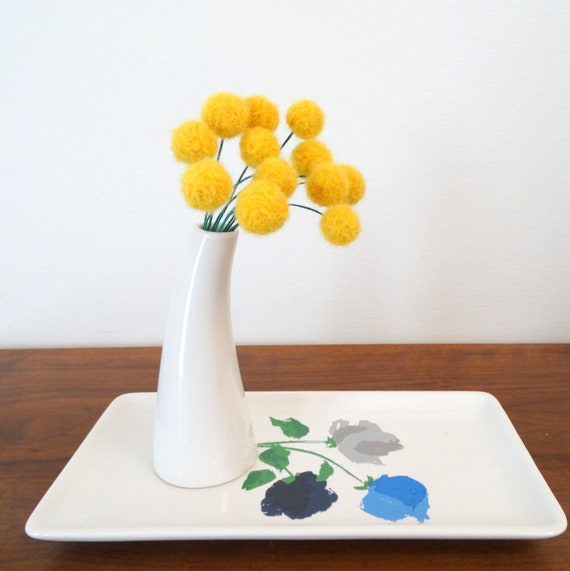 Fake craspedia flowers goldenrod sunflower yellow wool pom etsy image 0 mightylinksfo