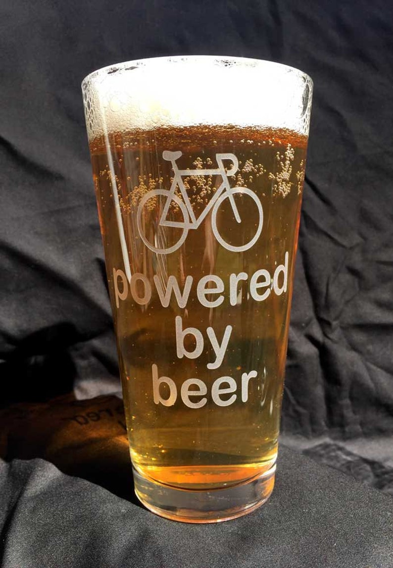 Bike powered by beer pint glass image 0