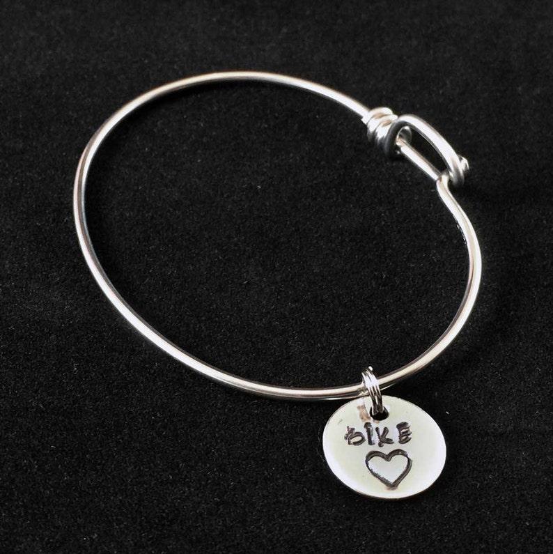 Bike Heart Charm Bicycle Spoke Bracelet image 0