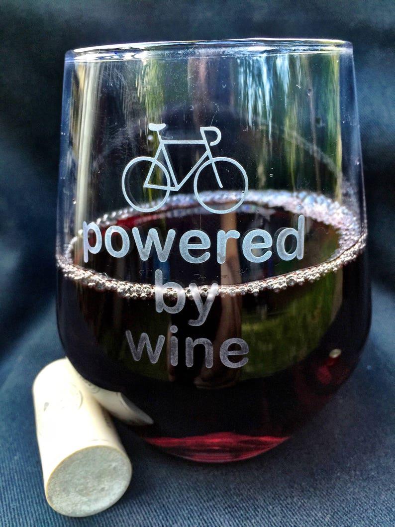 Bike powered by wine glass image 0