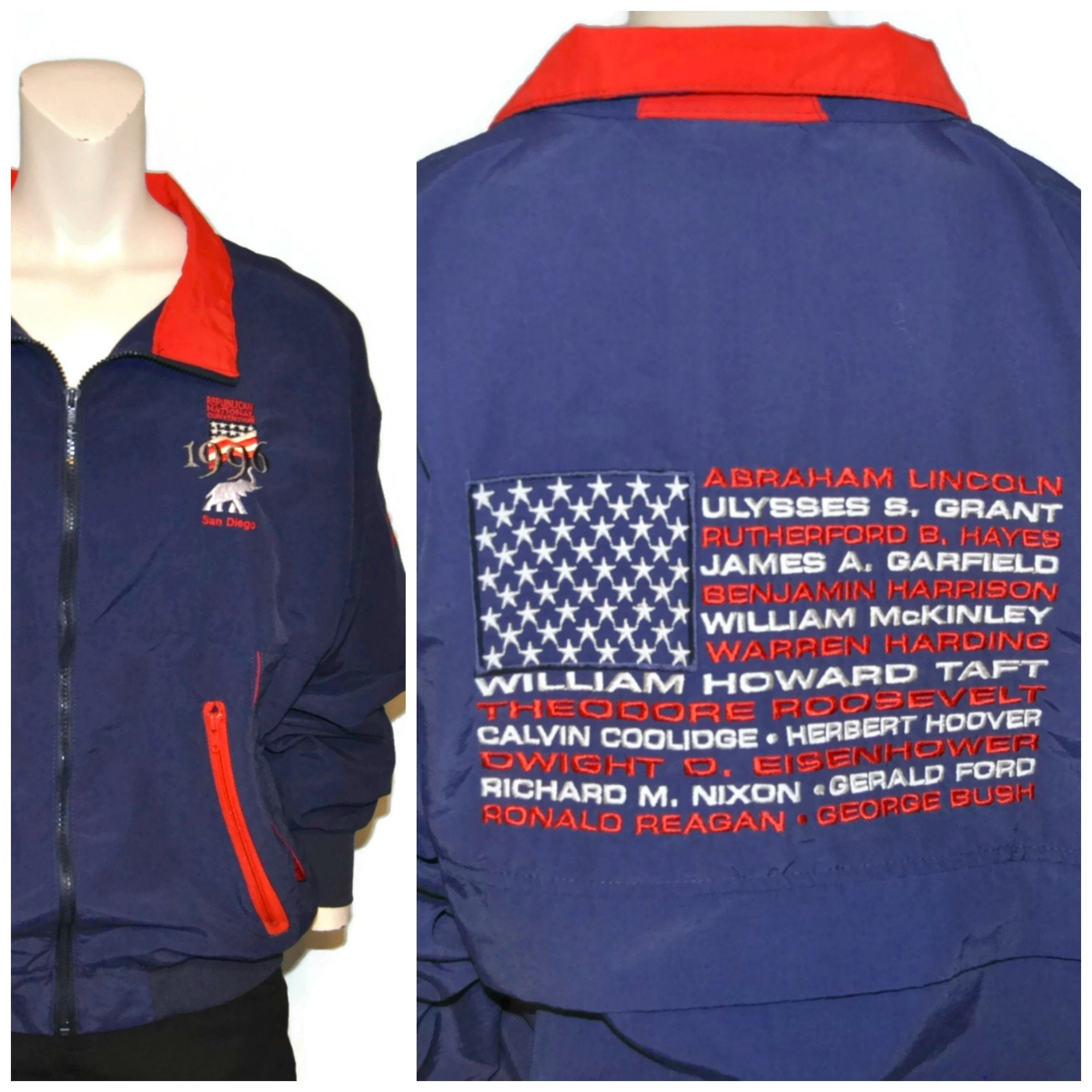 70964bf13a1 Vintage 1996 Republican National Convention Jacket San Diego