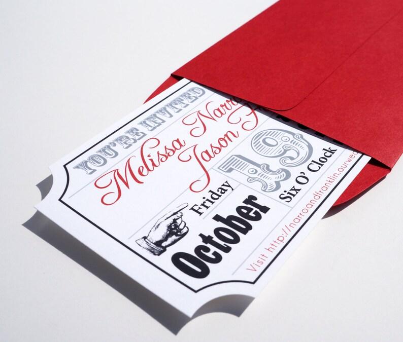 Movie Ticket Wedding Invitation Sample image 0