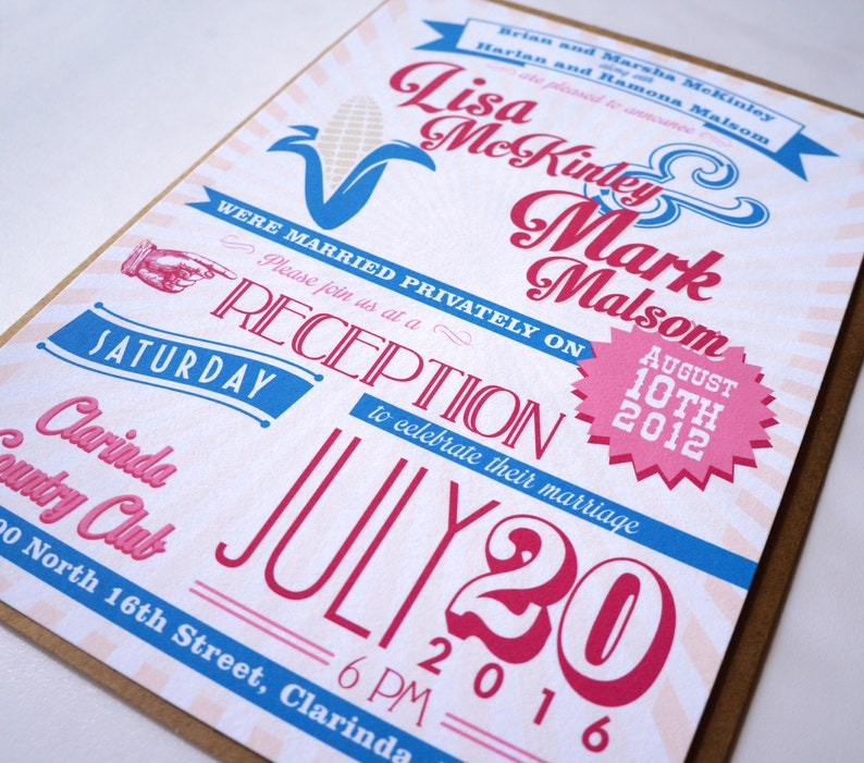 Vintage Fair Poster : Carnival Wedding Invitation  image 0