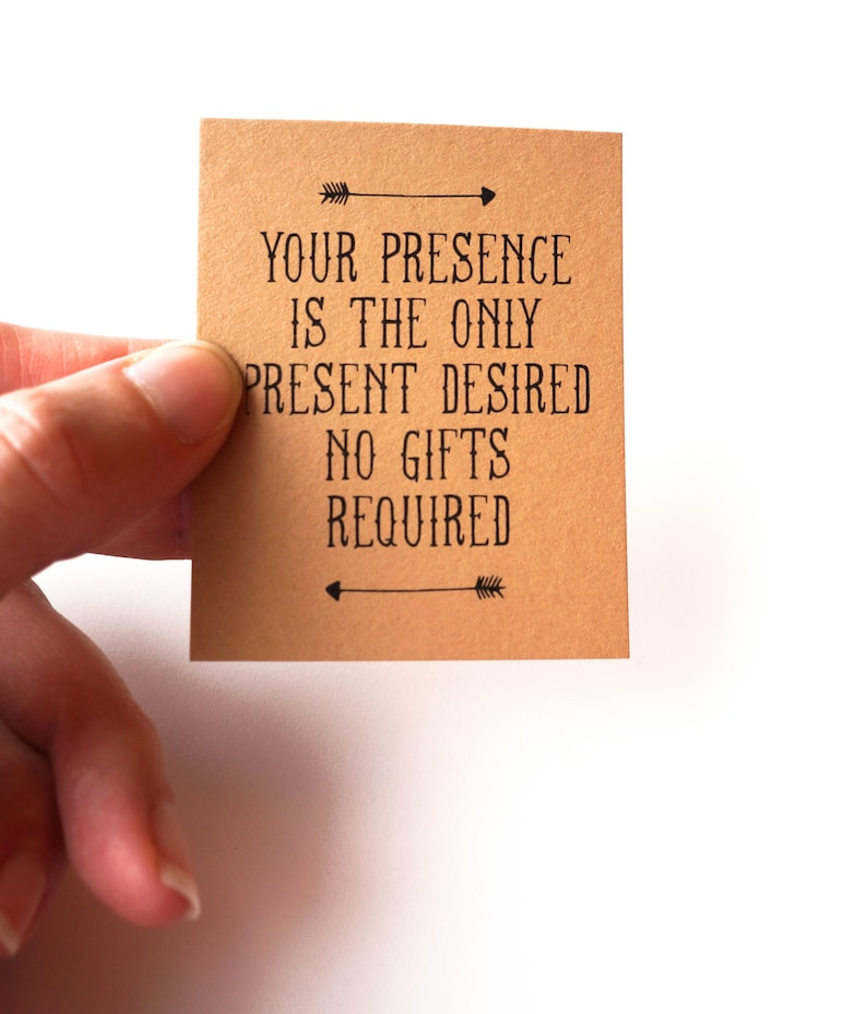 Your Presence is the Only Present Desired: No Gifts Invitation image 0