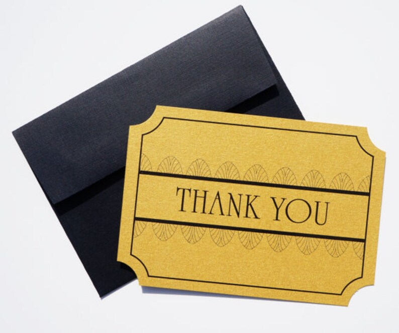 Art Deco Thank You Card : Old Hollywood DIGITAL DESIGN .pdf image 0