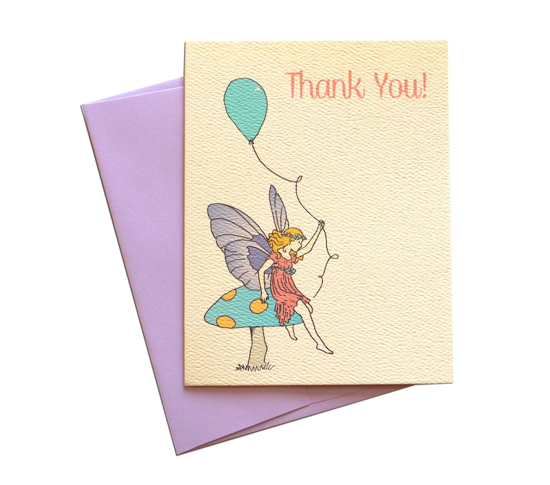 Birthday Fairy Thank You Card : Free Shipping image 0