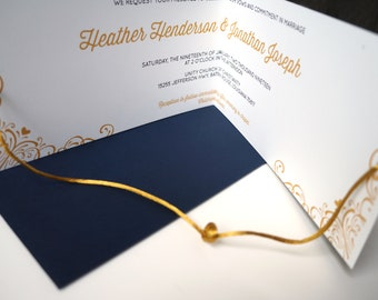Modern Help Us Tie the Knot Literally Wedding Invitation