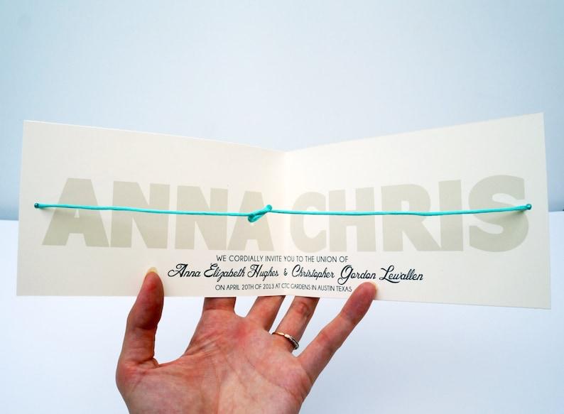 Help Us Tie The Knot LITERALLY  Wedding Invitation DIGITAL image 0