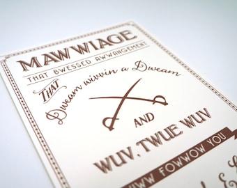 Mawwiage Princess Bride Engagement Party, Bridal Shower, Rehearsal Dinner Invitation DIGITAL DESIGN