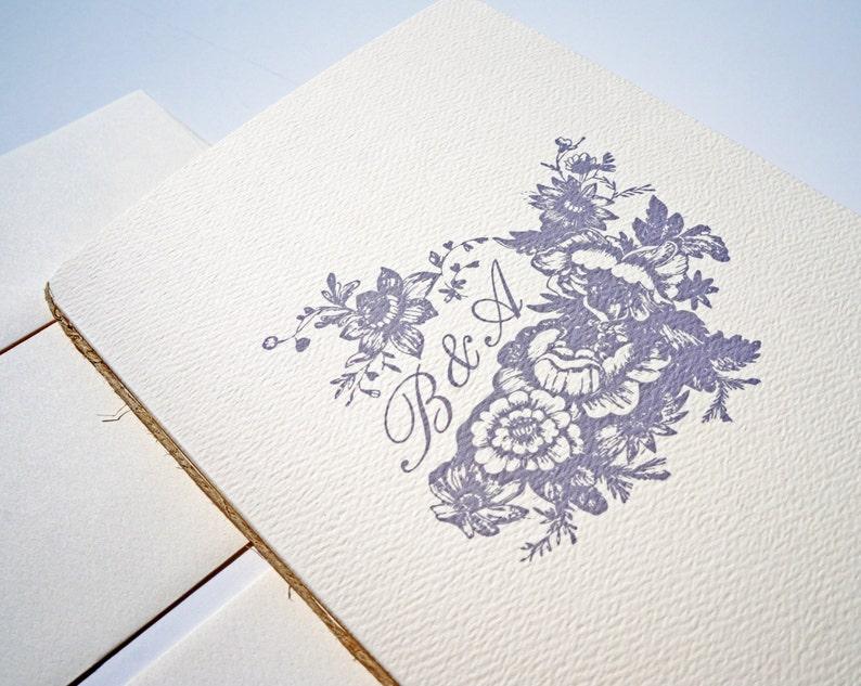 Elegant Wedding Invitation Booklet  Classic Beautiful image 0