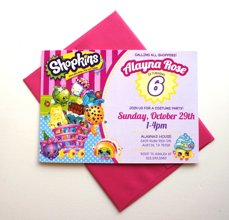 Shopkins Birthday Invitations Shopkins Party image 0