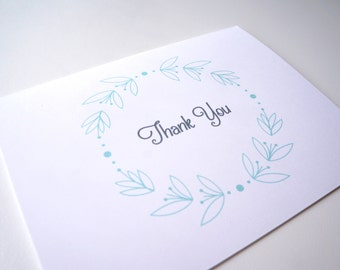 Sweet Mint Thank You Card PDF Printable, Instant Download