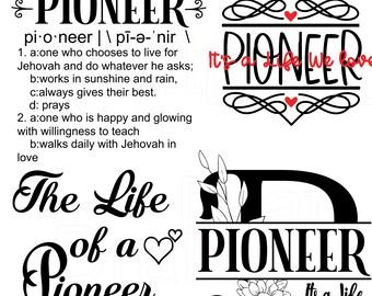 JW gift, Pioneer Prints, JW Pioneer, Pioneer gift, Card,  jw printable greeting card - jw gift  - Jehovah - best life ever