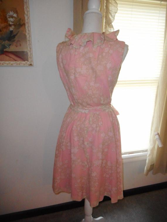 Vintage 1960's Dress Romantic Floral Fabric Ruffl… - image 7