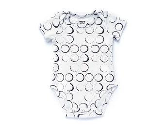 SALE - Baby Onesie, Baby Bodysuit, Baby One Piece, Organic Onesie - Black & White, Gender Neutral - Short Sleeve, Long Sleeve