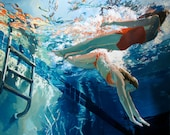 """Dive in, float: 16x20"""" Archival Print- Signed"""