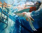 """Dive in, float: 7.5x9.5"""" Archival Print - Signed"""