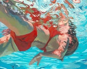 """Sink in float:  8x8"""" Archival Print -  Signed"""
