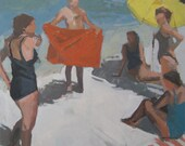 """At the beach: 16x16"""" Archival Print - Signed"""