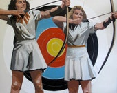 """Two Archers:  8x8"""" Archival Print -  Signed"""