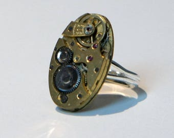 Gold watch movement from the 1930's ring