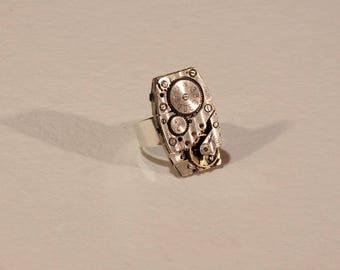 Circa 1950 5 watch movement ring.