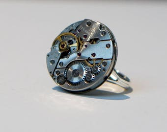 Simple watch movement ring