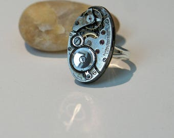 From the 1930's watch movement ring