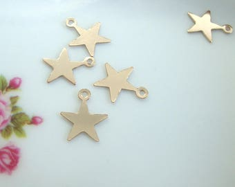 14K Gold Filled Tiny Star Charm 4 pcs PC-0247 8mm