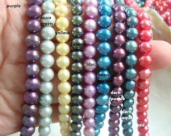 chrysocolla agate bead soup freshwater pearls Neon Blue Apatite focal DIY necklace jewelry kit over 28 inches of beads bronzite