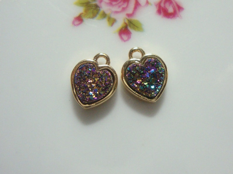 Lovely Series Brass Druzy and Black