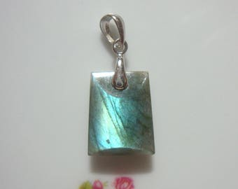 Sale 10% off AAA Labradorite Sterling Silver 3D Tapared shape Book Pendant - PC-0196 -1