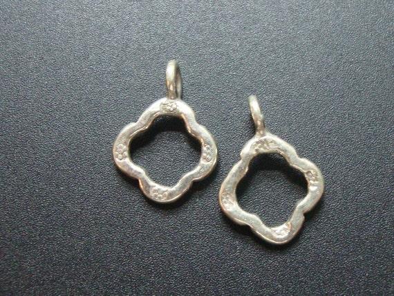 5 pièces, 15 15 15 x 11 mm, Karen Hill Fine bélière en argent, pendentif, connecteur, charme, vieilli argent, PC-0173 fa7ecc