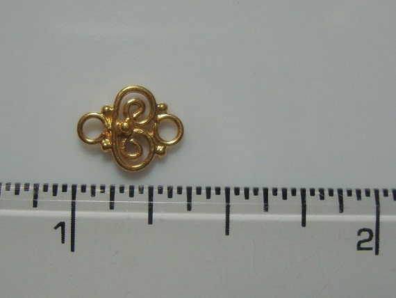 les les les 12 pièces en vrac, 9x7mm, fait à la main or Vermeill minuscules en filigrane petit maillon, PC-0010 900ef3
