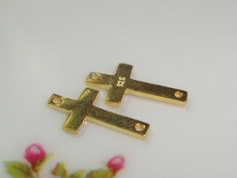 4 pcs, 12x6mm, 1mm 18 jauge d'épaisseur, 12x6mm, pcs, 18K or Vermeil argent Sterling Croix, Collection minimaliste 7e86df