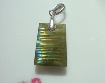 Sale 10% off AAA Labradorite Sterling Silver 3D Tapared shape Book Pendant - PC-0196 -4