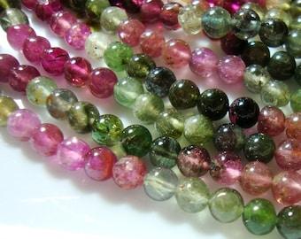 3.5-3.7mm, Gorgeous Tourmaline Smooth Round Beads, d17