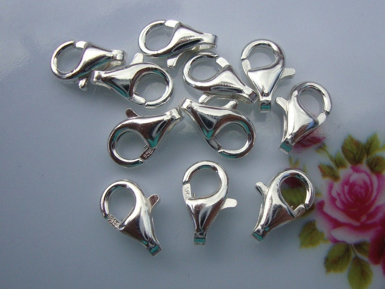 925 Stamped 8x4.3mm 925 Sterling Silver Trigger Clasp Bulk 100 pcs