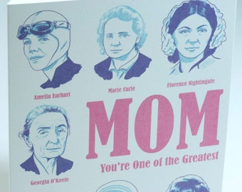 SALE - Letterpress Mother's Day Card - Greatest Mom