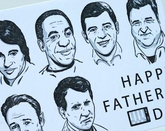 SALE - Letterpress Father's Day Card - Sitcom Dads