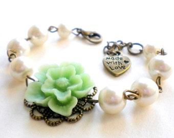 Flower Girl Bracelet Gift For Kid Pearl Bracelet Flower Girl Gift Children Jewelry Flower Wedding Jewelry Little Girl Bracelet