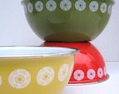 Enamelware Bowls-- set of 3