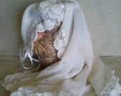 White lace knit blanket newborn, baby knit blanket, FREE SHIP Hand Knit Baby Blanket White , Hand Knitted Afghan, baptism blanket