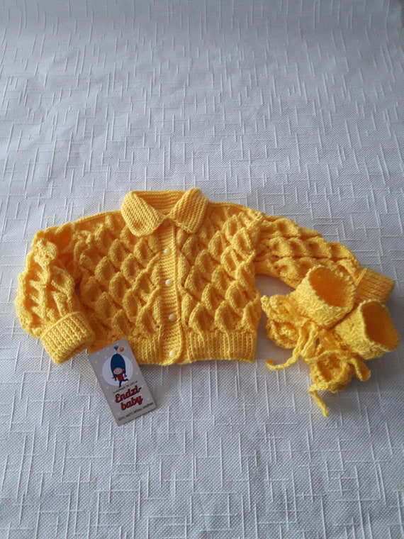 7f84c2053 Knit baby sweater Baby cardigan Baby shower gift Baby