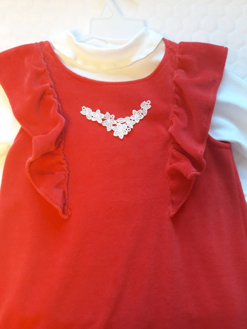 Girls  Outfit Girls tunic Girls  dress White blouse girls dress Toddlers  Outfit Red dress Girls dress Red  dress Birthday dress