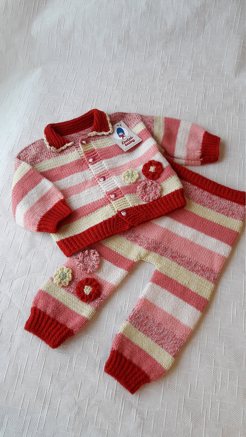 bc21332033ad Knitted girl sweater Knitted girls pants Handmade girls