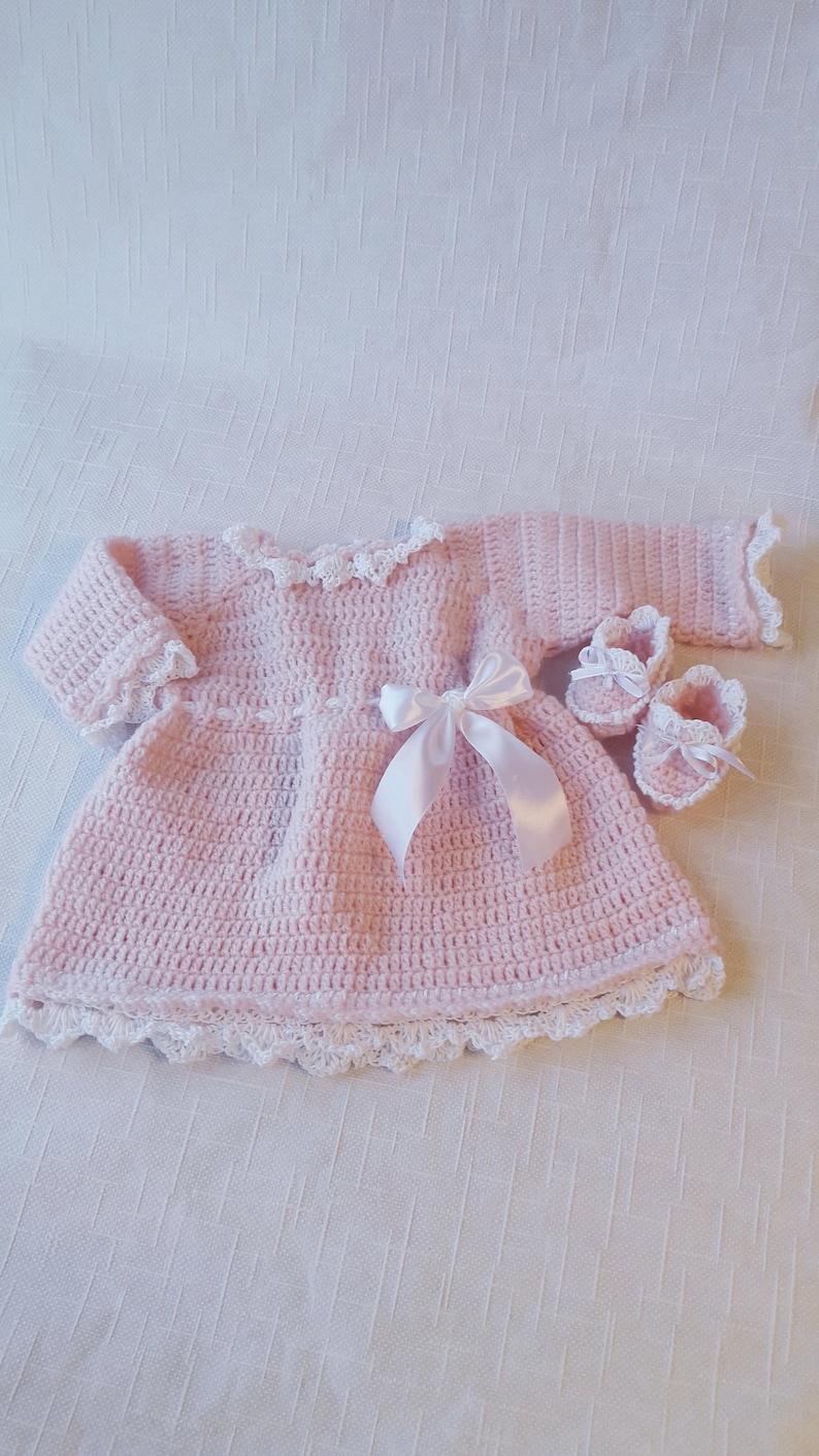 Newborn Dresses Crochet Dresses Crochet Booties Baby Etsy