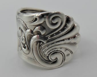 Antique Spoon Ring-Art Nouveau Spoon Ring-Art Nouveau Ring-Authentic Spoon Ring-Sterling Spoon Ring-Silver Spoon Ring  Size 6