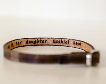 Ezekiel 16:44 single wrap bracelet